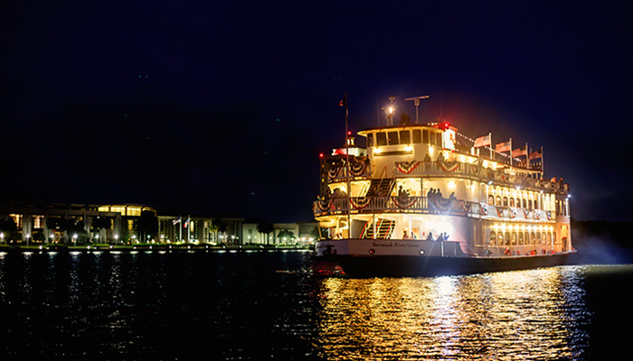 Savannah Riverboat Cruises at Night