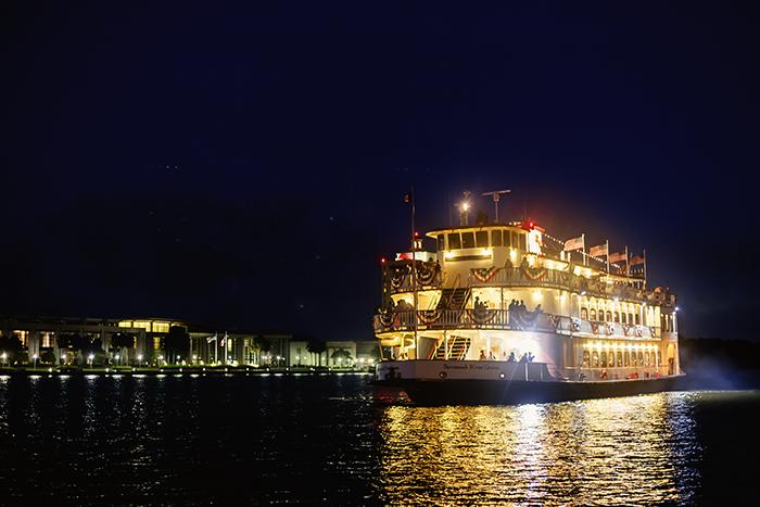 Savannah Riverboat Cruises at Night