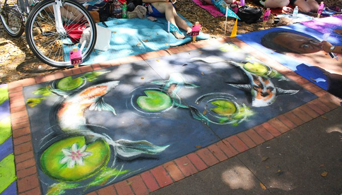 Savannah Sidewalk Art Festival in Forsyth Park