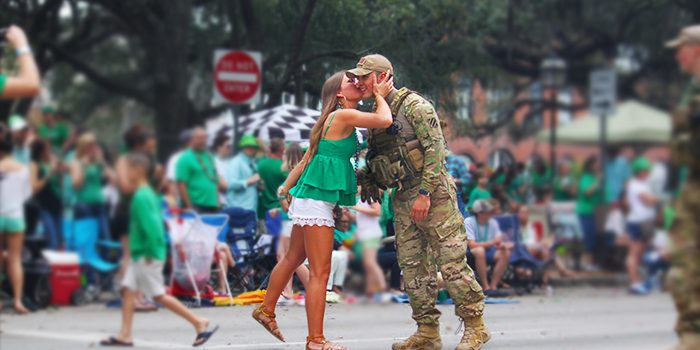 Savannah St Patricks Day Kiss