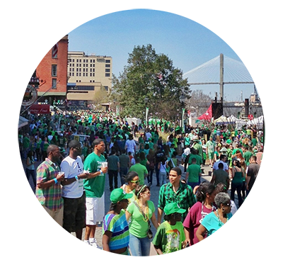Savannah River Street St Pattys Day Festival