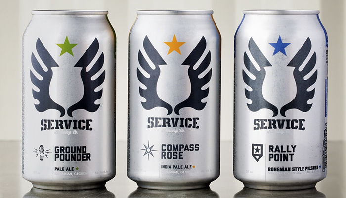 Service Brewing Co Cans