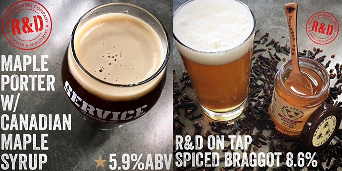 Service Brewing R&D Maple Porter and Spiced Braggot