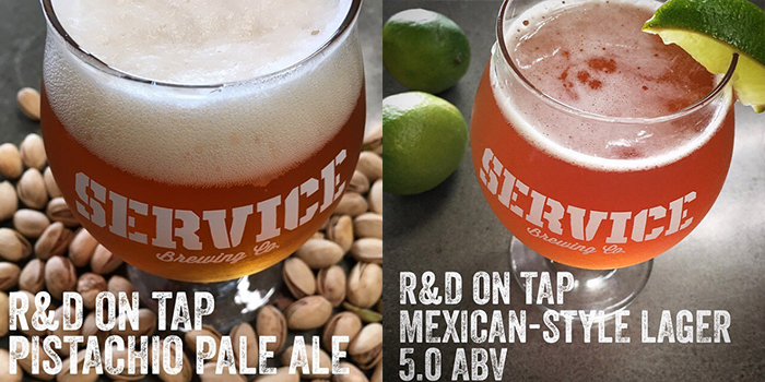 Service Brewing R&D Pistachio Pale Ale and Mexican-Style Lager
