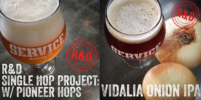 Service Brewing R&D Series Single Hop Pioneer and Vadalia Onion IPA