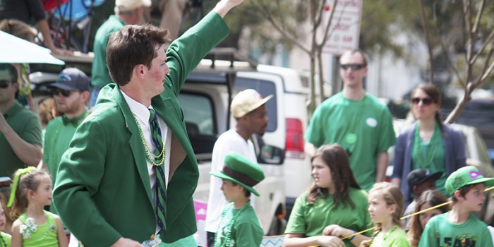St Patrick's Day Parade in Savannah