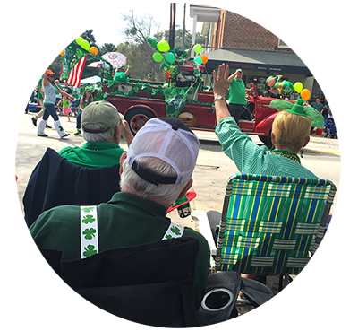 St Patricks Day Parade in Savannah