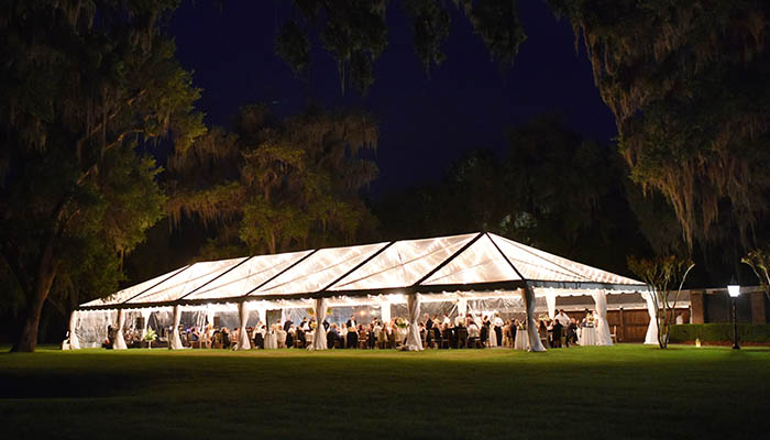 The Ford Plantation Wedding Reception at night