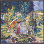 The Garden Umbrella by Frieseke
