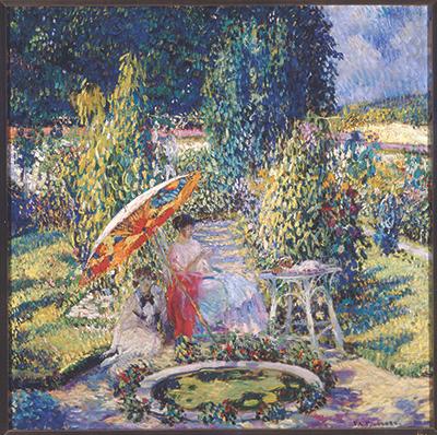 The Garden Umbrella by Frieseke