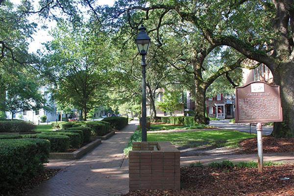 Troup Square in Savannah GA