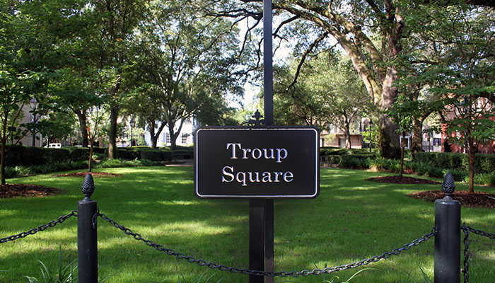 Troup Square sign