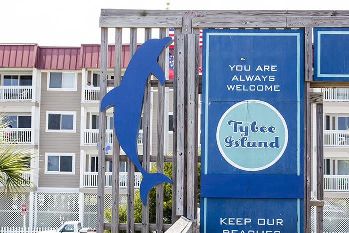 Tybee Island Always Welcome Sign