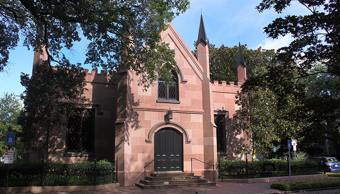 Unitarian Universalist Church in Savannah on Troup Square