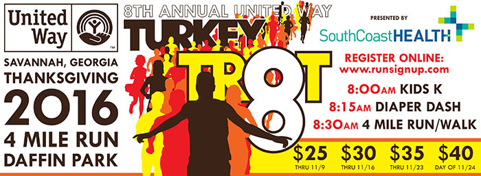 United Way Turkey Trot in Savannah 2016