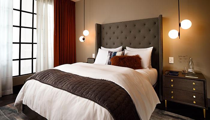 West Elm Hotel Guestroom