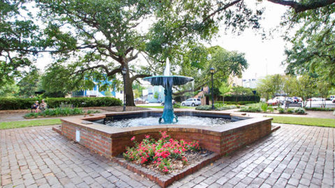 Wormsloe Fountain in Columbia Square