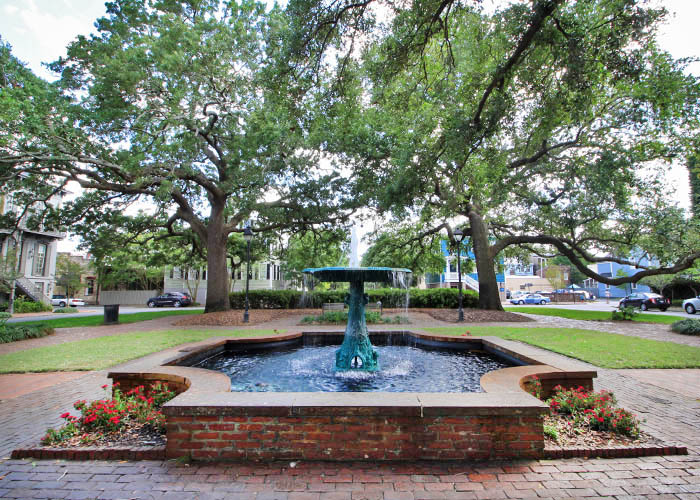 Wormsloe Fountain in Columbia Square Savannah