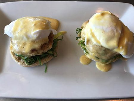bar • food crab cake benedict