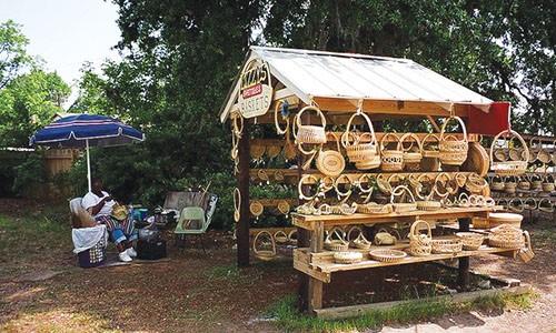 Jery's Baskets sweetgrass baskets