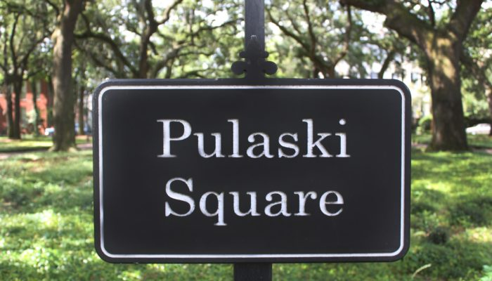Pulaski Square Sign