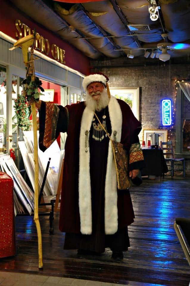 santa at city market