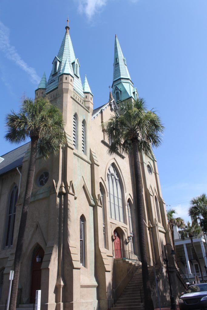 Calhoun Square Wesley Monumental United Methodist Church in Savannah